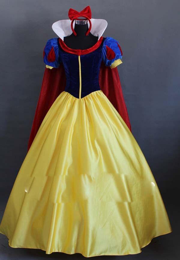 Costume de Cosplay princesse blanche neige sur mesure pour femmes adultes robe de soirée Halloween livraison gratuite
