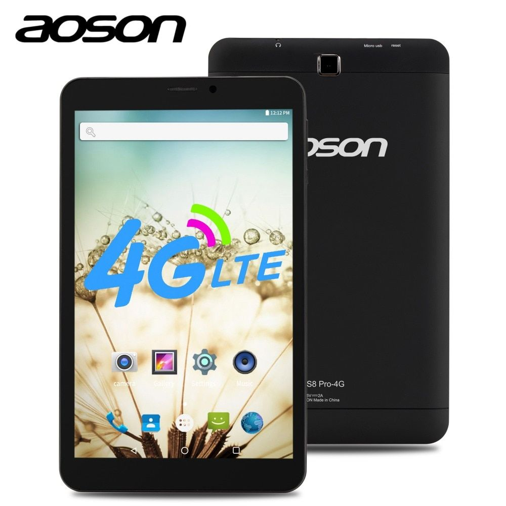 NEW!AOSON 4G LTE phone call Tablets HD 8 inch SIM CARD S8 Pro GPS Android 6.0 MTK8735B Quad-core IPS 800*1280 1GB+16GB mobile