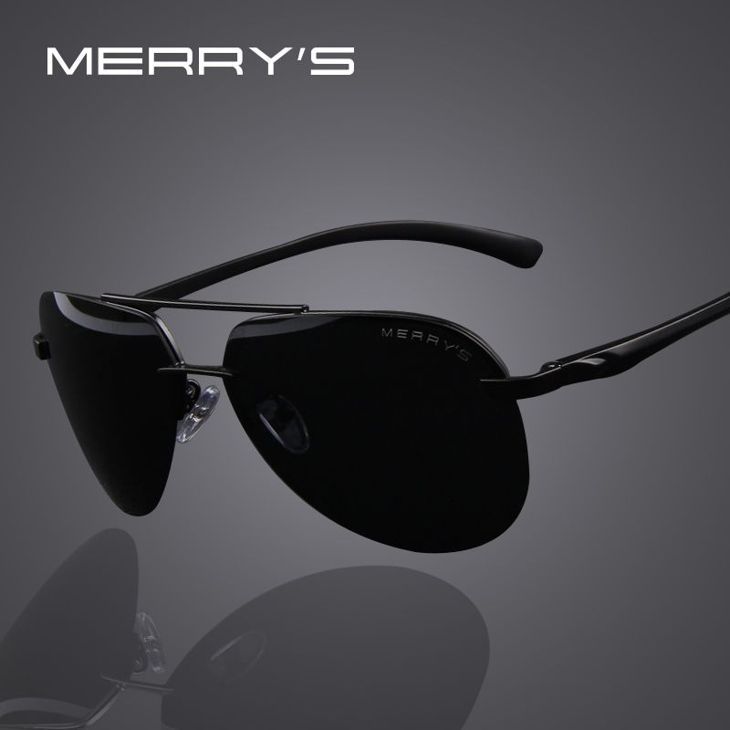 MERRYS Marque Hommes 100% Polarisées En Aluminium Alliage Cadre lunettes de Soleil Mode Hommes lunettes de Soleil de Conduite S8281
