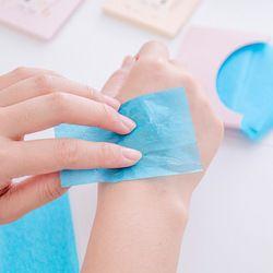 50sheet/pack Linen oil-absorbing paper men and women face oil blue film   oil-absorbing facial oily skin oil control random