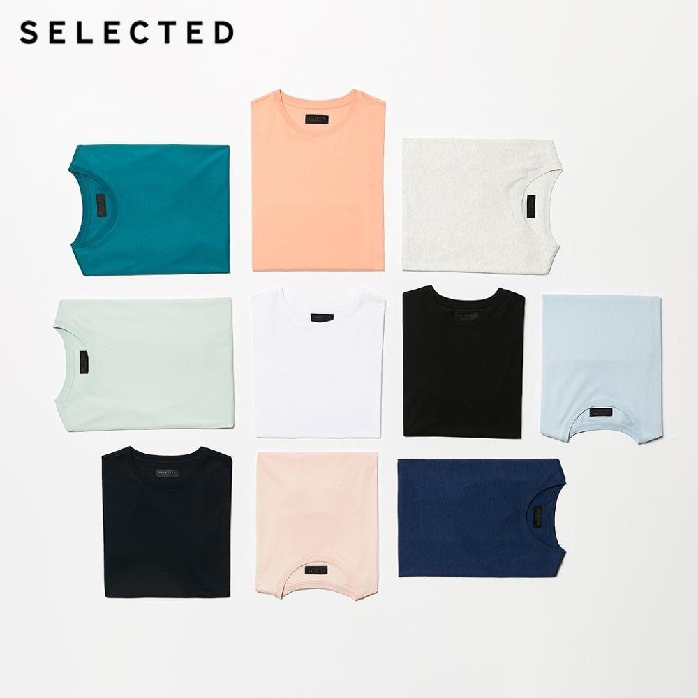 T-shirt à manches courtes à encolure ronde en pur coton été 100% pour hommes select | 419201508
