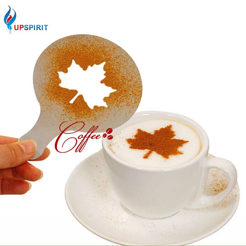 UPSPIRIT Трафареты для рисунков на кофе (используются для украшения чашечки капучино и молоко, торта, кекса, 16 шт./компл)