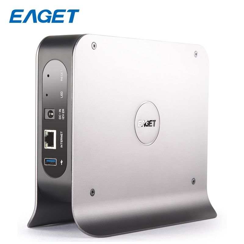 EAGET 3.inch 1-BAY Smart Network Cloud Storage Mobile Hard Disk Box SATA USB3.0 Encryption Private Cloud Disk Network hard Y300