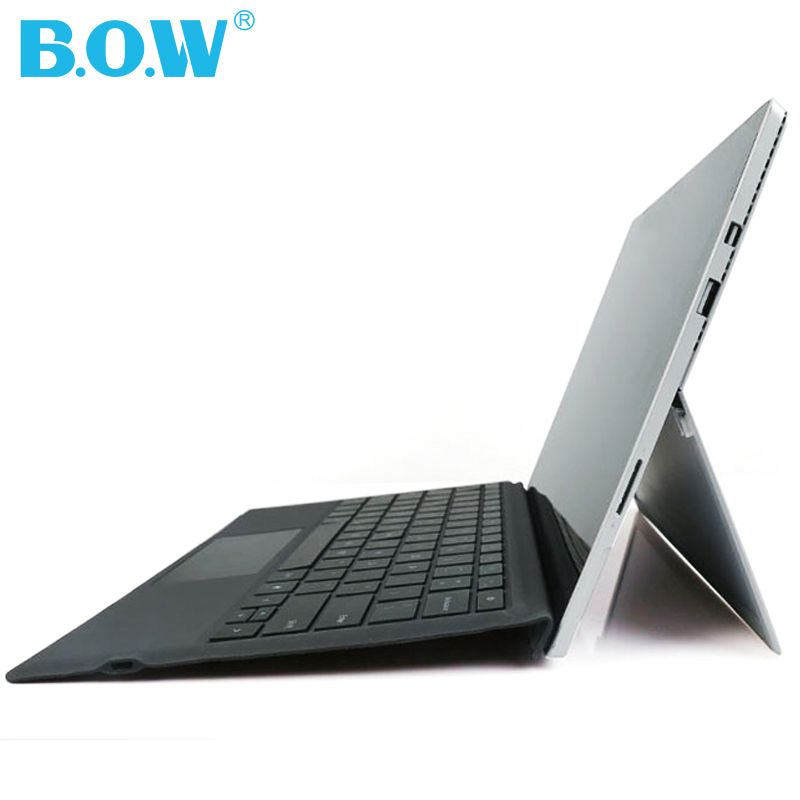 BOW Keybaord Für Microsoft Surface Pro 4/Pro 3, Schlank Backlits Drahtlose Bluetooth Fall mit Trackpad + 750 mAh batterie