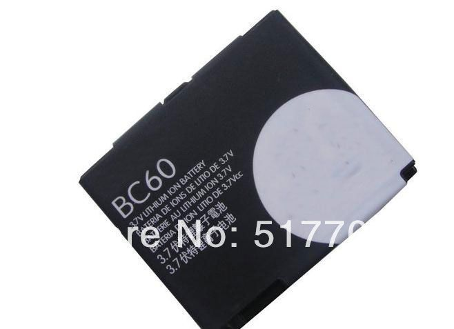 ALLCCX high quality mobile phone battery BC60 for Motorola L7 A1600 L72 E8 L71 EM30 C261 C257 with good quality