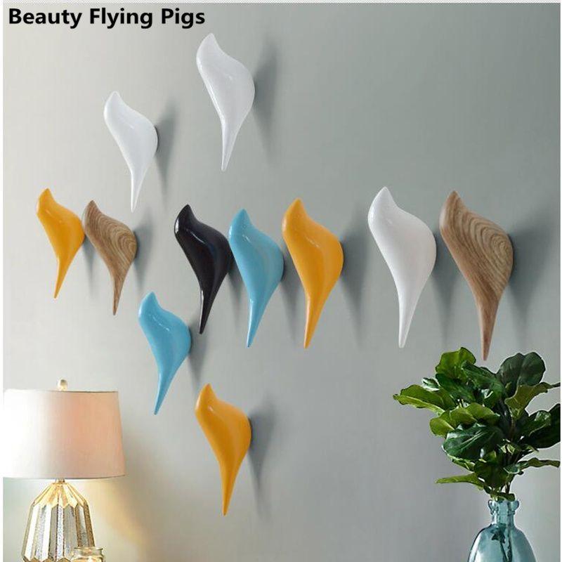 Oiseaux cintre crochet pour chambre d'enfant Creative résine modèle salle de bain mur crochets gouvernante ventouse crochets pour clé cintre