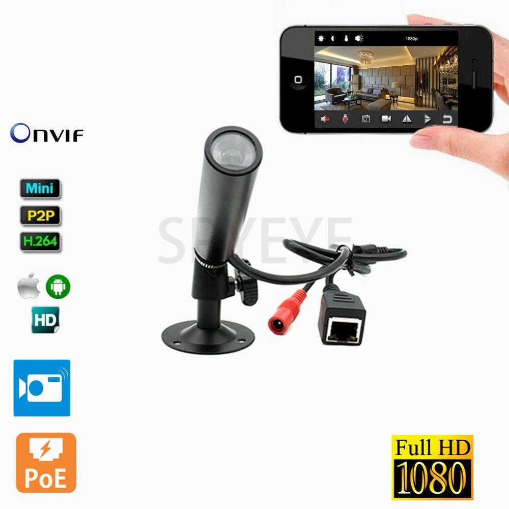 1080P POE Power Over Ethernet Mini Waterproof IP Camera Surveillance Network Video Cam Onvif Mini IP Web Industry Camera