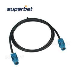 Superbat FAKRA Kendaraan HSD LVDS Cable Dacar 535 Perakitan Z Kode LURUS JACK Perempuan untuk Z Kode Langsung Perempuan Jack 120 Cm
