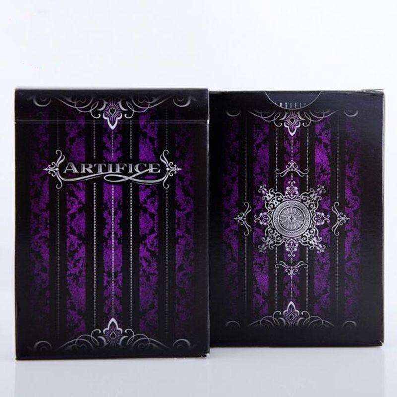 1 deck Purple Artifice Premium Ellusionist Deck Bicycle Playing Cards magic trick props poker deck 83079