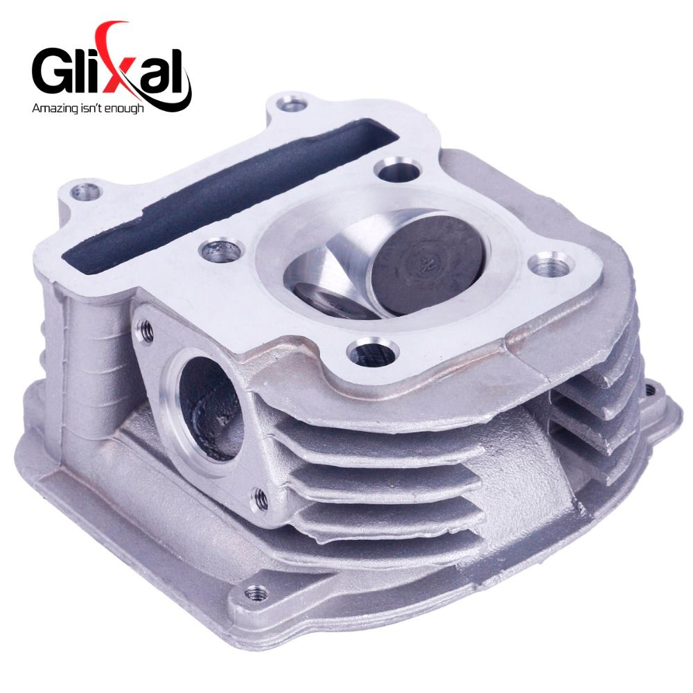 Glixal GY6 160cc Chinese Scooter 58.5mm High Performance Cylinder Head Assy with Valves 4T 157QMJ ATV Go Kart Buggy Moped Quad