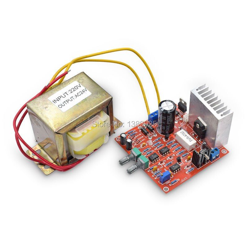 Envío libre 0-30 V 2mA-3A Ajustable DC fuente de Alimentación Regulada DIY Kit con AC 24 V transformador