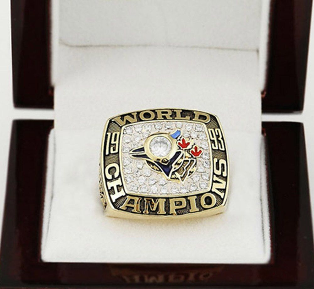 Gorgeous Wooden Boxes with 1993 Toronto Blue Jays World Series Baseball Copper High Quality Sports Replica Championship Ring