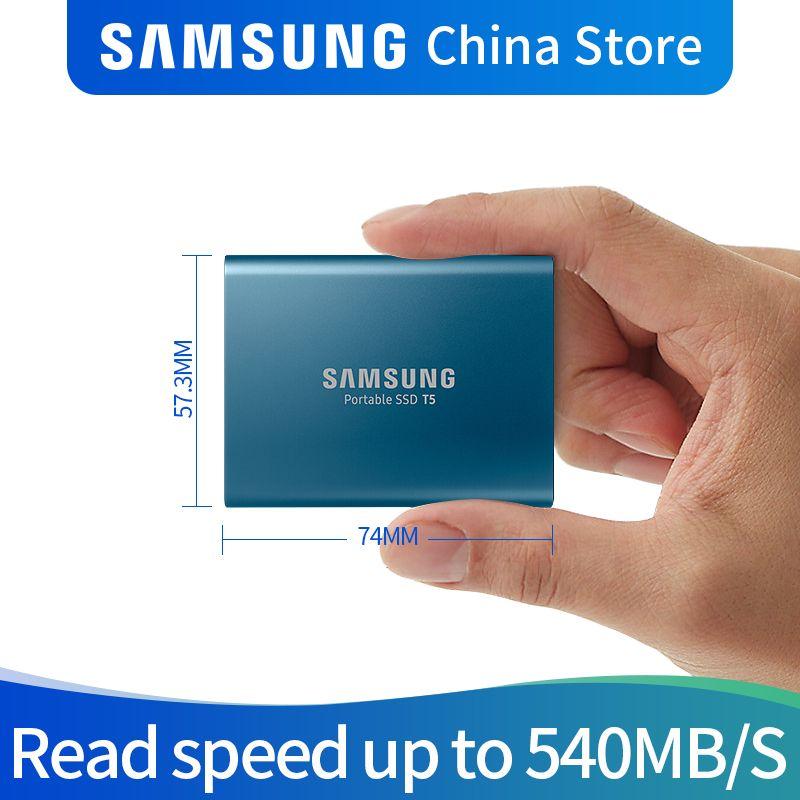 Samsung T5 tragbare SSD 250 GB 500 GB 1 TB 2 TB USB3.1 Externe Solid State Drives USB 3.1 Gen2 und rückwärts kompatibel für PC