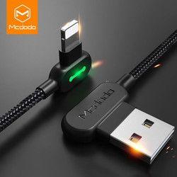 Mcdodo cable USB para iPhone Apple x 8 7 6 5 6 s más cable de carga rápido del teléfono móvil adaptador del cable del cargador del cable de datos USB