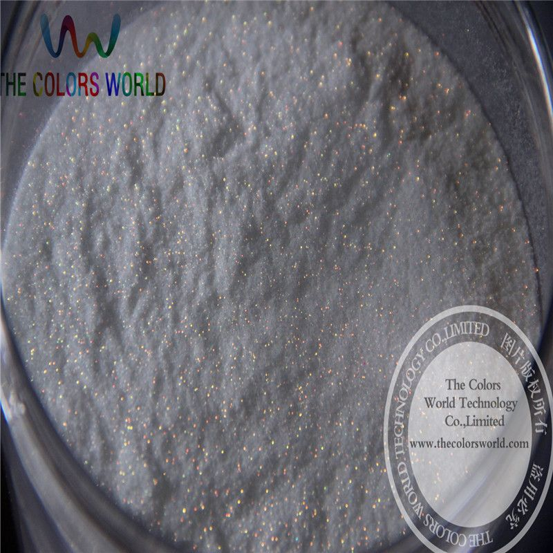 No.21 wholesale 0.1mm 004 Iridescent white with Blue  light Color Glitter Powder for nail,tatto art decoration DIY powder