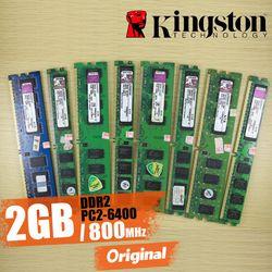 Kingston memoria de escritorio 2 GB 2G 800 MHz PC2-6400 DDR2 PC RAM 800 6400 2G 240-pin KVR800D2N6/2G envío libre