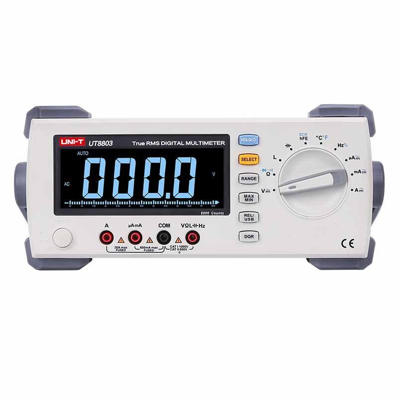 UNI T UT8803 Bench Top Multimeter DMM True RMS EBTN DCV/ACV/DCA/ACA Ohmmeter Induktivität Kapazität temperatur messung