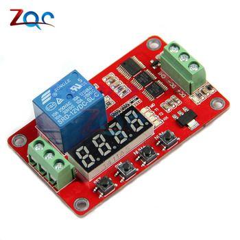 12 V DC Multifonction Auto-verrouillage Relais PLC Cycle Retard Temps Minuterie Module PLC Domotique Retard Module
