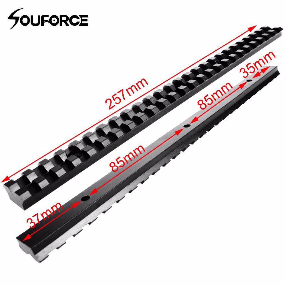 Lange 20mm Montieren Picatinny Schiene mit 25 Slots und 257mm Länge von Aluminiumlegierung für Jagd Gewehre B