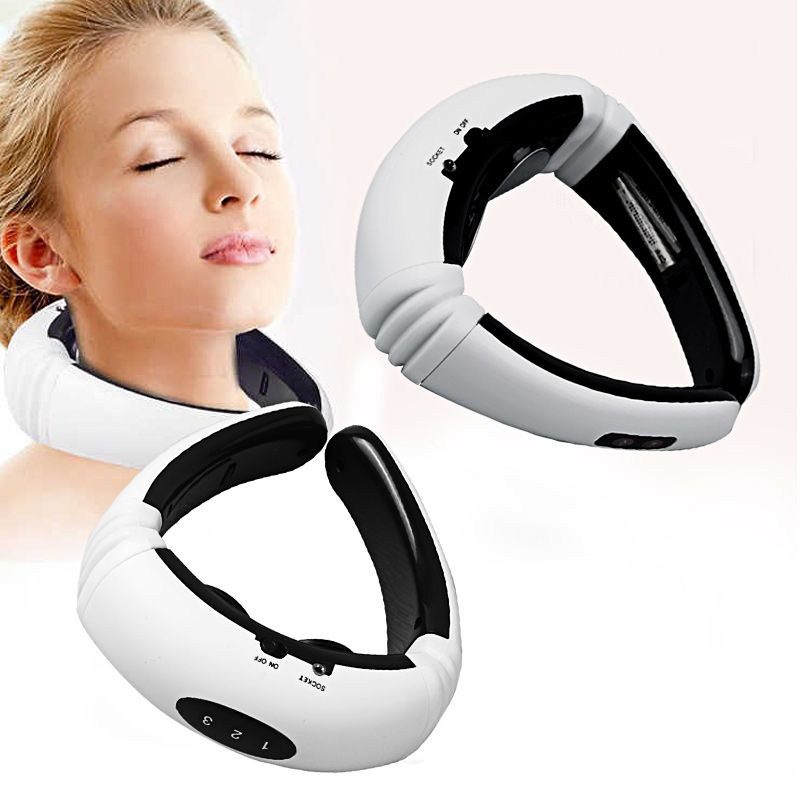 Electric Pulse Back and Neck Massager Far Infrared Pain Relief Tool Health Care Relaxation Multifunctional Physiotherap