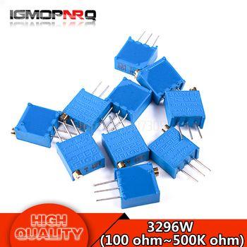 10 pcs 3296 W série resistanceohm Trimpot Potentiomètre de réglage 1 K 2 K 5 K 10 K 20 K 50 K 100 K 200 K 500 K 1 M 100R 200R 500R 3296 W 103