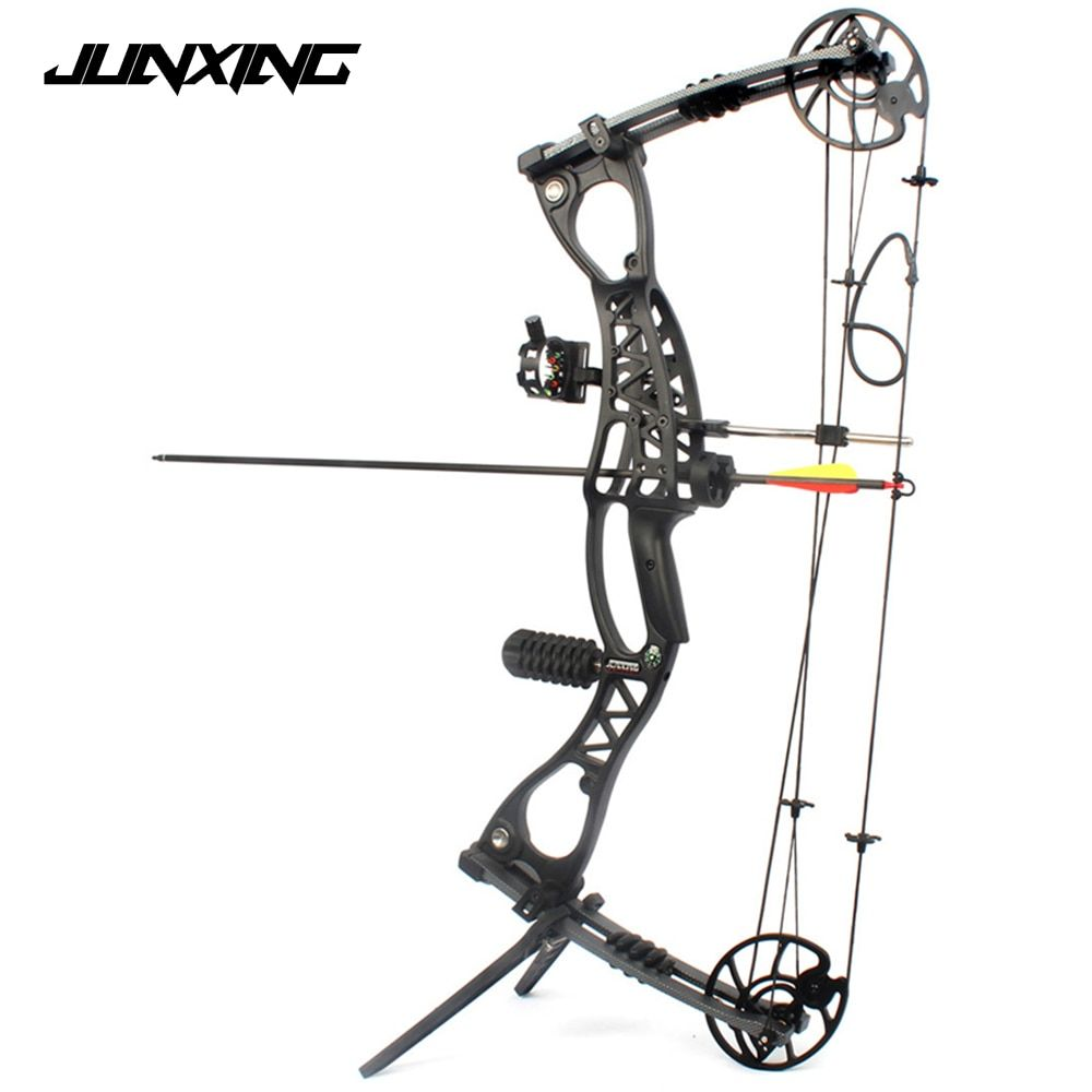 Compound Bow Archery Hunting Arrow Set Right Hand With 40-65lbs Draw Weight For Human Outdoor Shooting