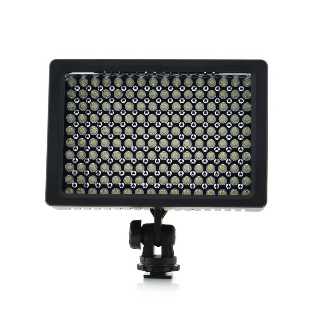 1set Camera HD 160 LED Video Light Lamp 1280LM 5600K/3200K Dimmable for Canon for Nikon Camera Video Camcorder