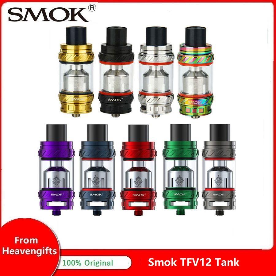 Atomiseur de réservoir d'origine Smok TFV12 6 ml Type A réservoir Sub Ohm grand flux d'air tfv12 nuage bête roi soutien E Cigarette Mod Vape réservoir