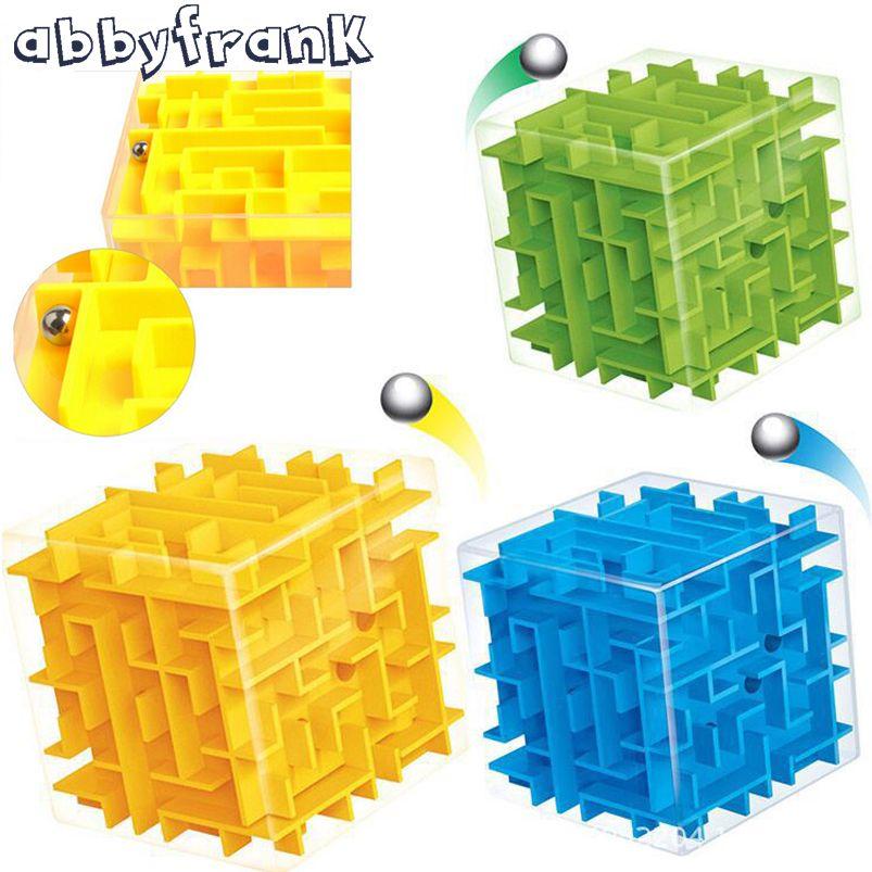 Abbyfrank Cube Magique 3D Labyrinthe Puzzles & Cubes Magiques Labyrinthe Boule Jouets Éducatifs Puzzle Jeu Intelligence Bébé Jouet D'enfant