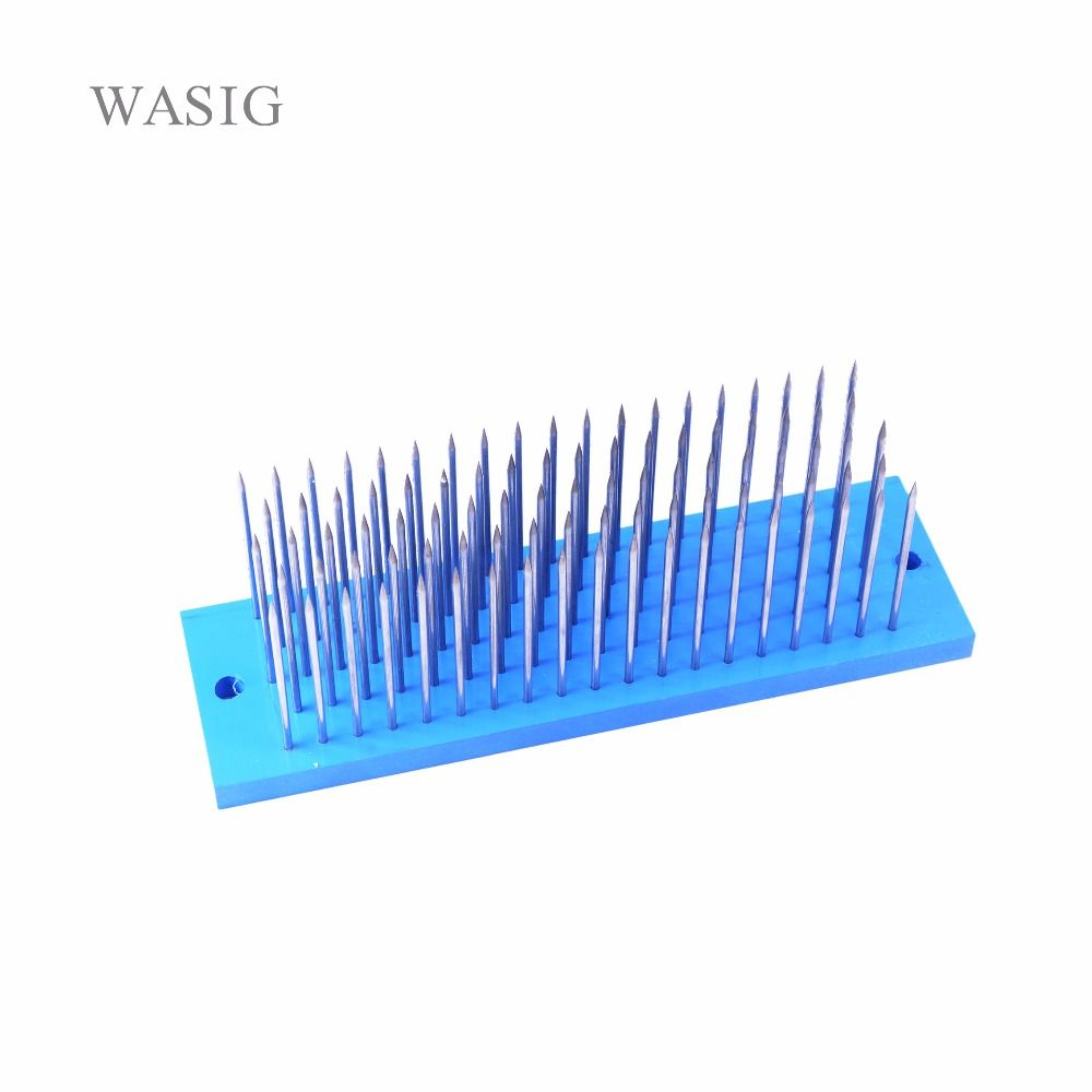 Blanco Pelo hackle con 93 unids aguja para peine máquina trama, pequeño peine de acero