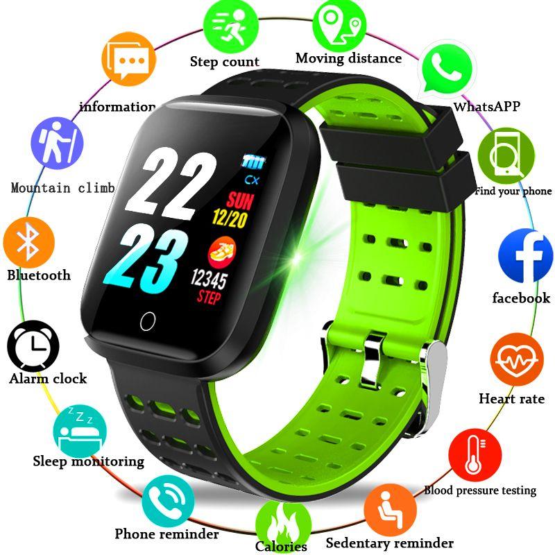 WISHDOIT Smart Sport Uhr IP68 Tiefe Wasserdichte Uhr Herz Rate Blutdruckmessgerät Elektronische Uhr legierung Kopf Für Android IOS