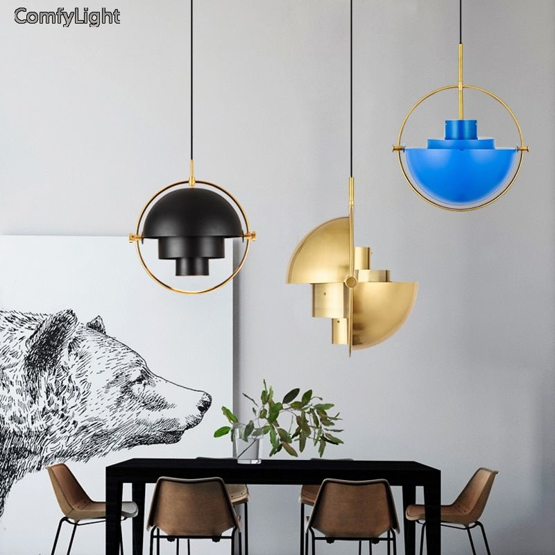 Nordic design lamp led pendant light living room decoration suspension luminaire lampshade kitchen/bedside lustre light fixture
