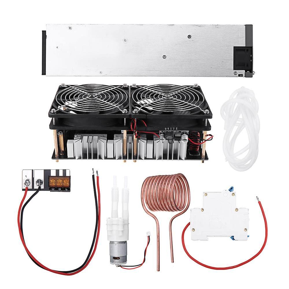 2500 W 48 V 50A ZVS Induktion Heizung Modul Hochfrequenz Heizung Maschine Geschmolzen Metall Spule Mit Netzteil Volle kit