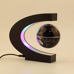 Nouvelle Arrivée 1 Pcs Nouveauté Décoration Lévitation Magnétique Flottant Enseigner L'éducation Globe Carte Du Monde Décoration Santa Cadeau US Plug