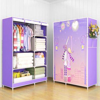 Moderne à la mode maison de mode chambre meubles de stockage portable l'assemblée multi-but chambre armoires de rangement armoires garde-robe
