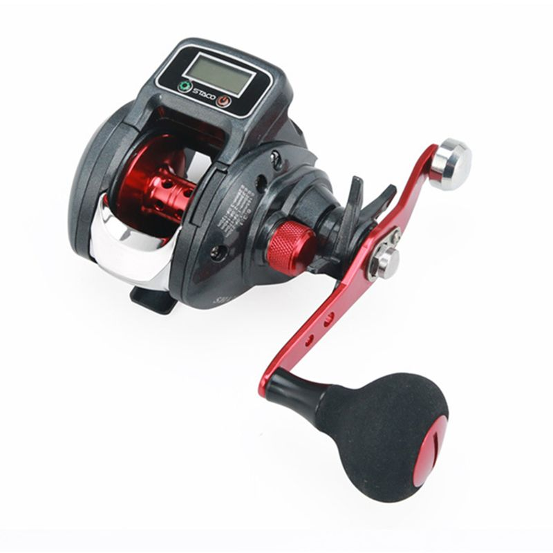 18 New 13+1 Bearing Left/Right Fishing reel with Digital Display Fishing Line Counter Saltwater Carp Reel 6.3:1 Casting Scroll