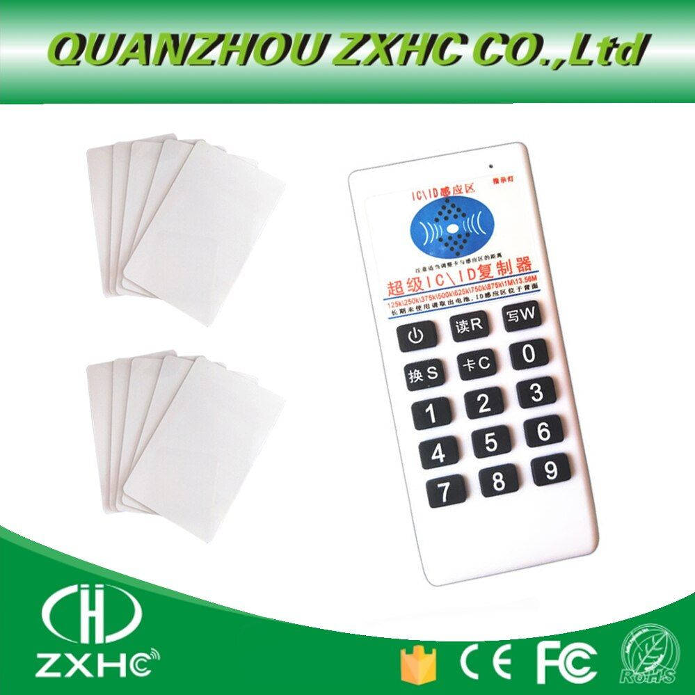 RFID 125khz ID 13.56mhz IC Copier Reader Writer for EM4305 T5577 UID Changeable Tag+5or10 uid