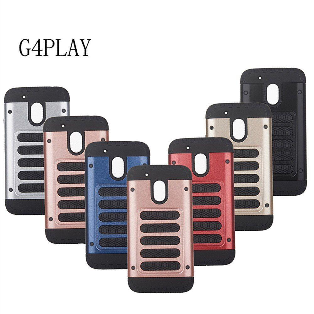 10pcs Business Fashion PC+TPU Silicone Anti-Drop Double Protective Armor Shockproof Phone Case For Motorola Moto G4 Play 5.0''