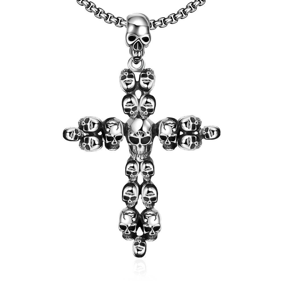 Hot sale 925 pure sterling silver jewelry Skull cross pendant necklace send  friends pretty fashion party sales promotion YN029