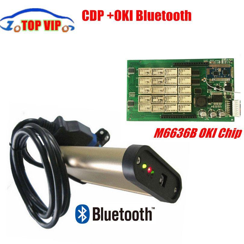 2018 Newest 2015.R1 version Gold CDP OKI (M6636B OKI Chip)+bluetooth for car&trucks 3 in 1 CDP Pro Auto obd2 Diagnostic-tool