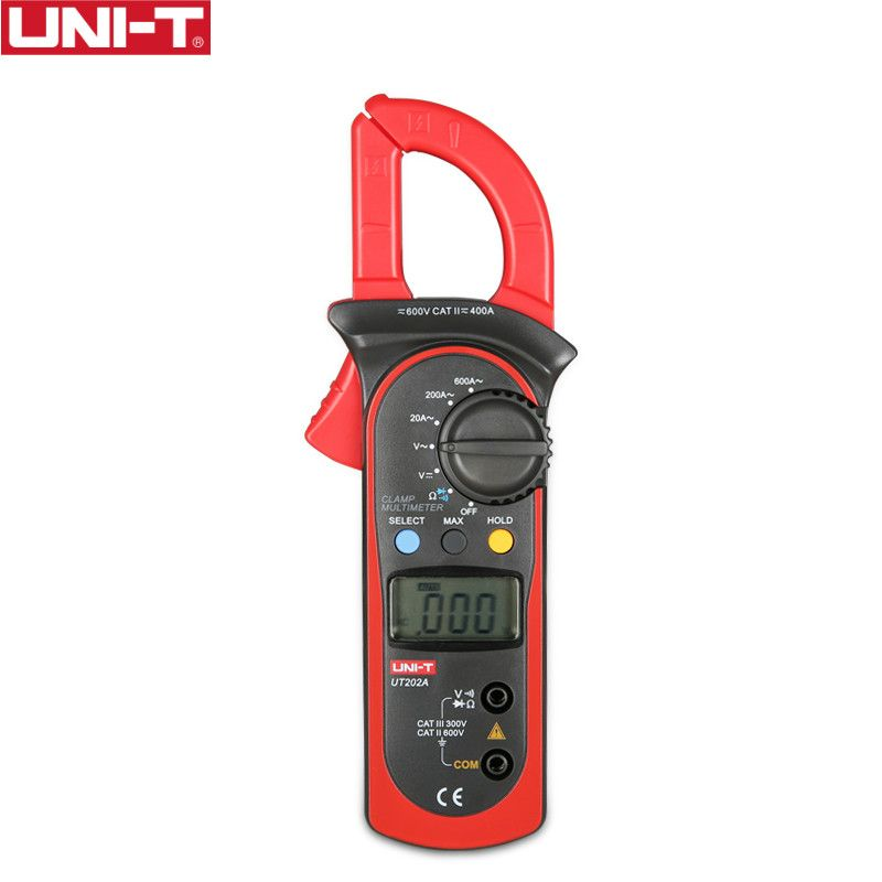 UNI-T UT202A 400-600A Ditgital Current Clamp Meters diagnostic-tool Capacitance Tester NCV Test DC/AC Multimeter
