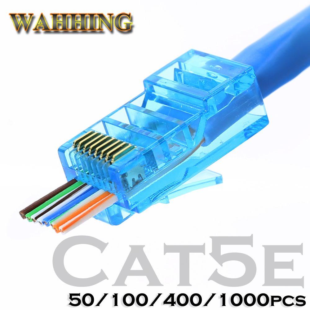 Connecteur Rj45 Cat5 Cat5e connecteur réseau 8P8C non blindé modulaire rj45 plug utp terminaux ont trou HY1538