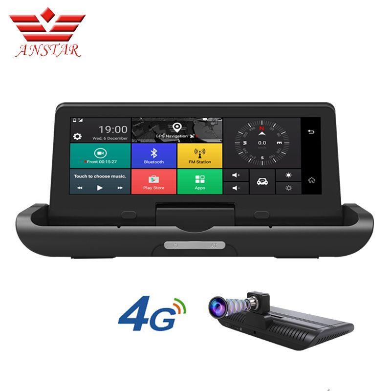 ANSTAR 8 inch Dash Kamera 4G ADAS Anti Radar Auto Dvr Auto Kamera GPS Navigation Video Recorder Spiegel Dash cam Russische Version