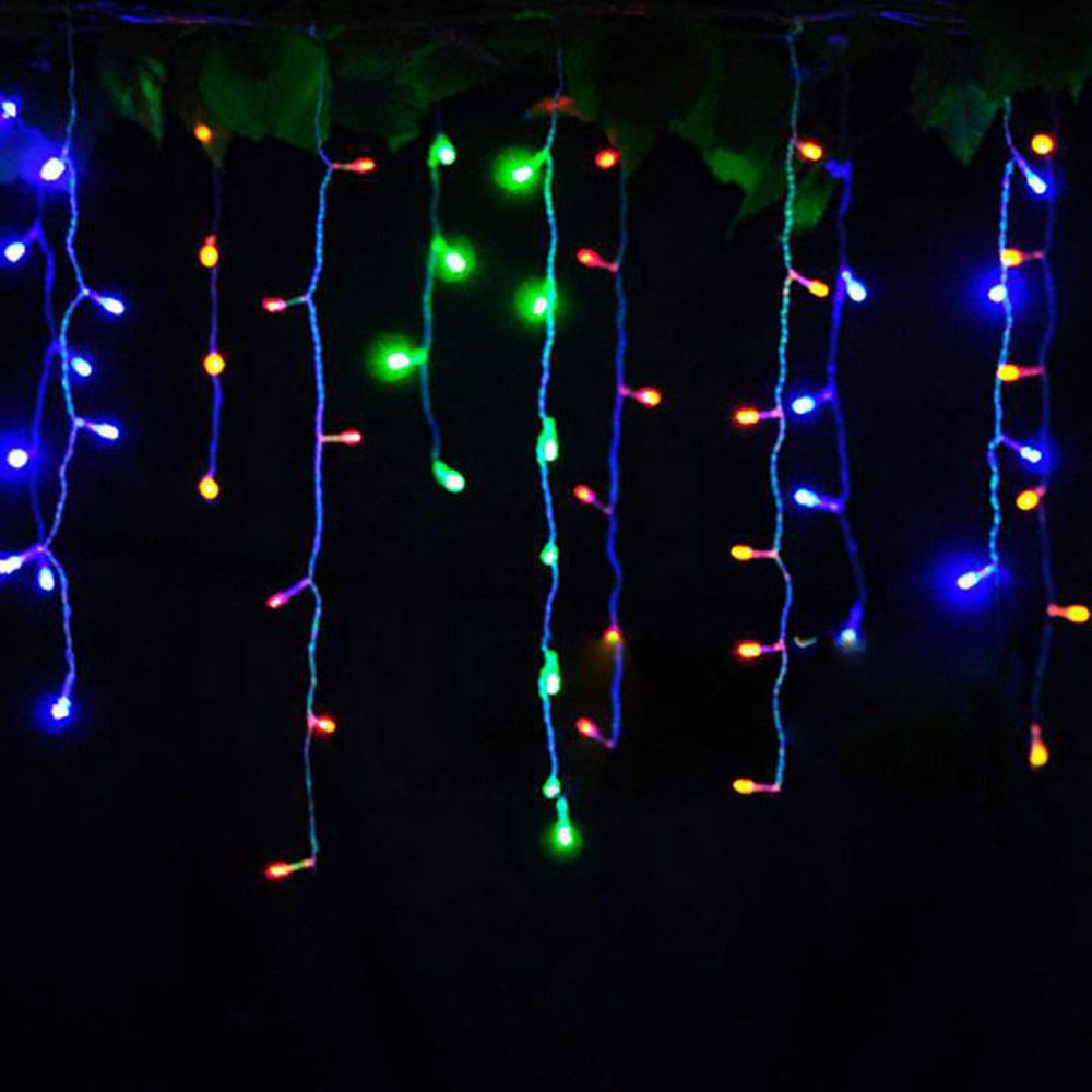 Connector 4M x 0.4M 0.5M 0.6M led curtain icicle string lights led fairy lights Christmas lamps Icicle Lights Xmas Wedding Party