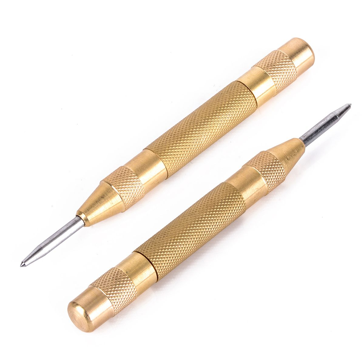 1pc 5 inch Automatic Center Punch Mayitr High Speed Steel Strikes Spring Loaded Marking Starting Holes Tool