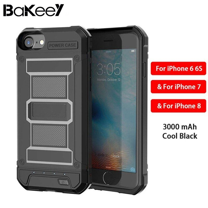 Bakeey 3000mAh External Battery Charger Case Cover for iPhone 6/6s/7/8  Battery Case Rechargeable Power Bank Backup Cover Case