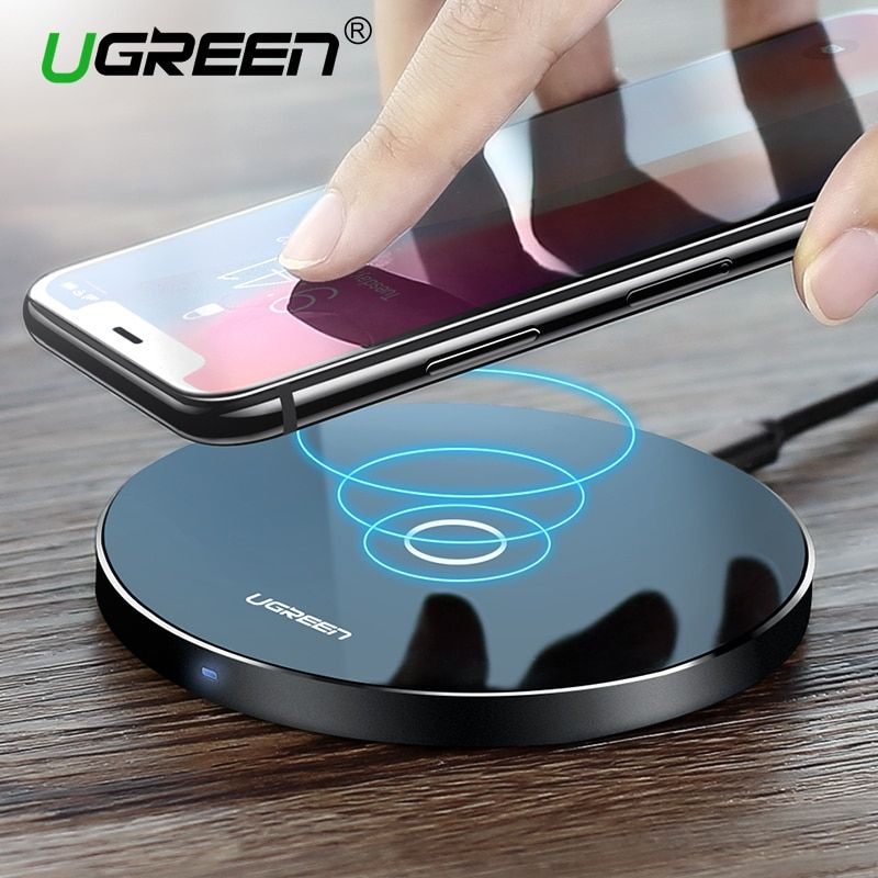 Ugreen <font><b>Wireless</b></font> Charger for iPhone X 8 Plus 10W <font><b>Wireless</b></font> Charging for Samsung Galaxy S8 S9 S7 Edge Qi USB <font><b>Wireless</b></font> Charger Pad