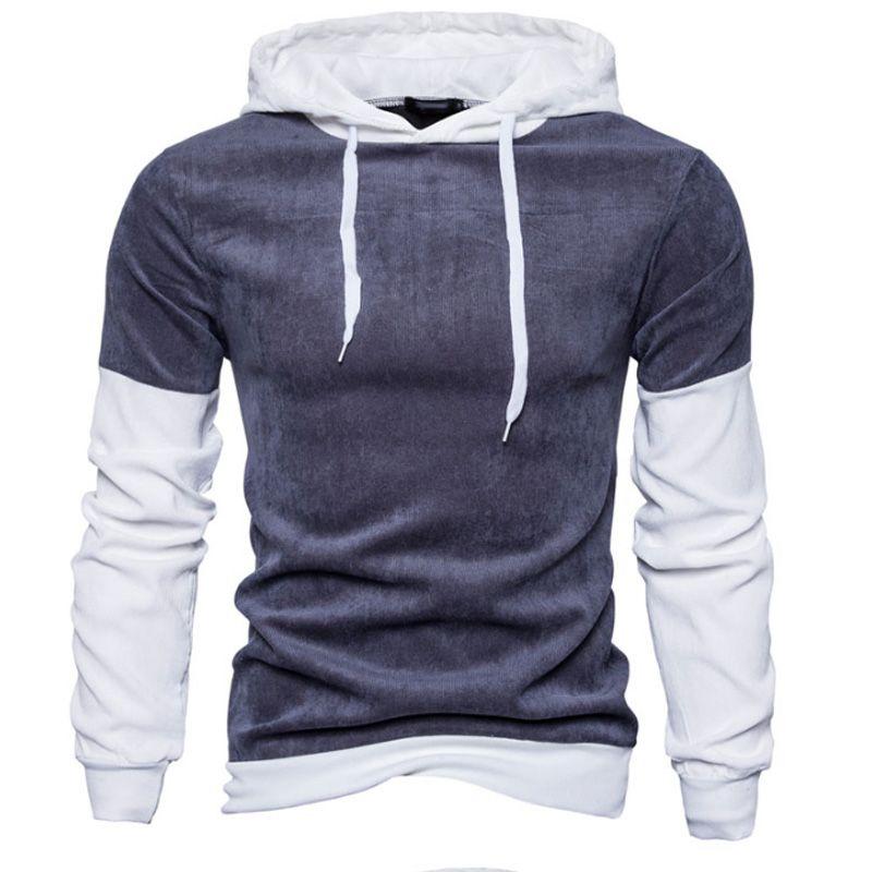 2018 Hoodies Men Sudaderas Hombre Hip Hop Mens Brand Stitching Hooded Hoodie Sweatshirt Slim Fit Men Hoody XXL f001