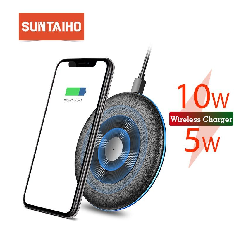 Qi Wireless Charger 5W/10W Suntaiho phone charger wireless Fast Charging Dock Cradle Charger for iphone samsung xiaomi huawei P3