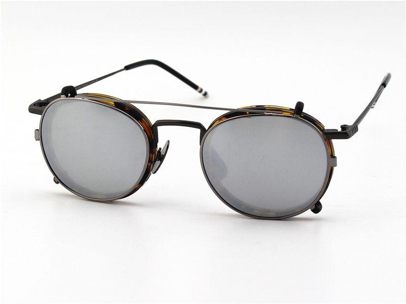Unisex Gafas De Grau Optical Round Sun Glasses Frame TB710 eyeglass frame eyewear with clip on sunglasses Men&Women